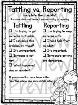 tattling  reporting   trendy teacher teachers pay
