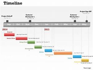 Regular Timeline Roadmap Diagram 0314