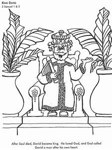 King David Bible Coloring Page For Kids To Learn Bible Stories Children Activities Games