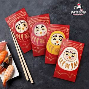 Ang Pao Packet Design Sushi King Chinese New Year Promotion