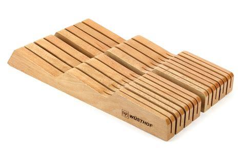 wusthof  drawer knife storage tray  slot natural cutlery