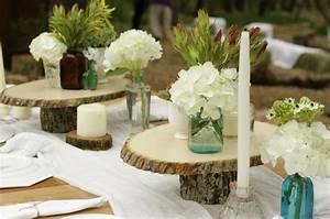 Centre De Table Champetre : centre table champetre bois mariage champ tre louza86 ~ Melissatoandfro.com Idées de Décoration