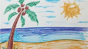 Comment Dessiner La Mer : comment dessiner une plage youtube ~ Dallasstarsshop.com Idées de Décoration
