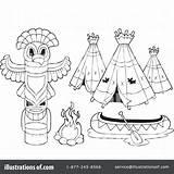 Teepee Tent Drawing Coloring Getdrawings sketch template