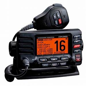 Standard Horizon Gx1600 Compact Fixed Vhf Radio  Black