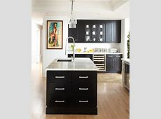 Black Kitchen Contemporary kitchen Benjamin Moore