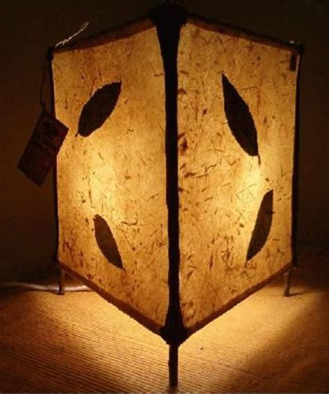 lampara artesanal de papel vegetal cosas bonitas