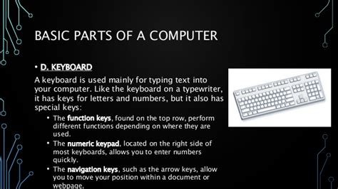 Lesson 3.0 Basic Parts And Functions Of Computer