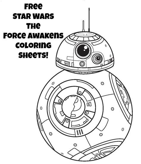Bb8 Kleurplaat by Wars Coloring Pages The Awakens Coloring Pages
