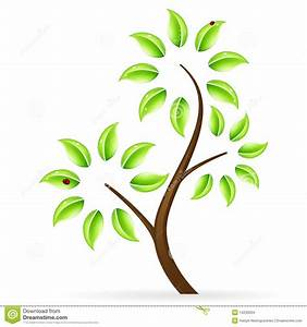 Abstract Green Tree Icon Stock Images - Image: 14230264