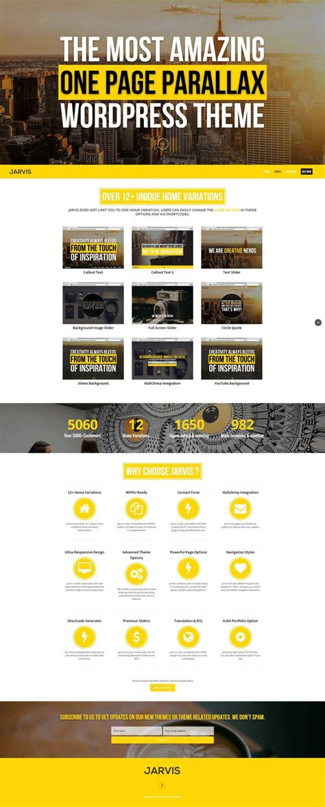 Single Page Theme 34 Best Best Single Page Themes Images On