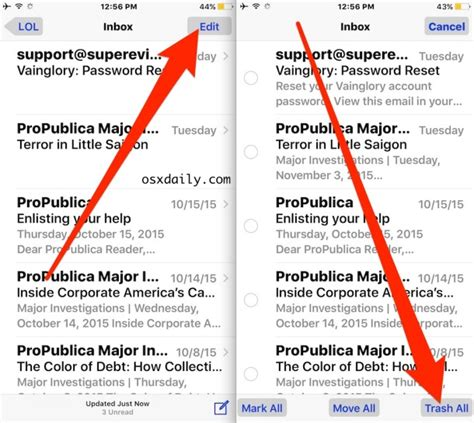 delete all emails on iphone how to delete all email from mail inbox on iphone