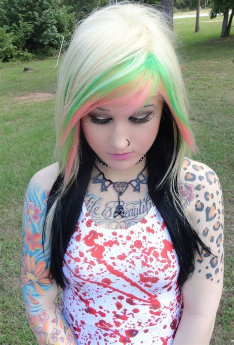 Fab Find Blonde And Black Emo Girl Wig Scene Punk Gothic