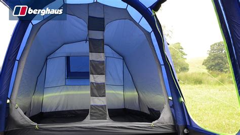 3 Man Tent With Porch by Berghaus Air 6 Man Family Tent Youtube