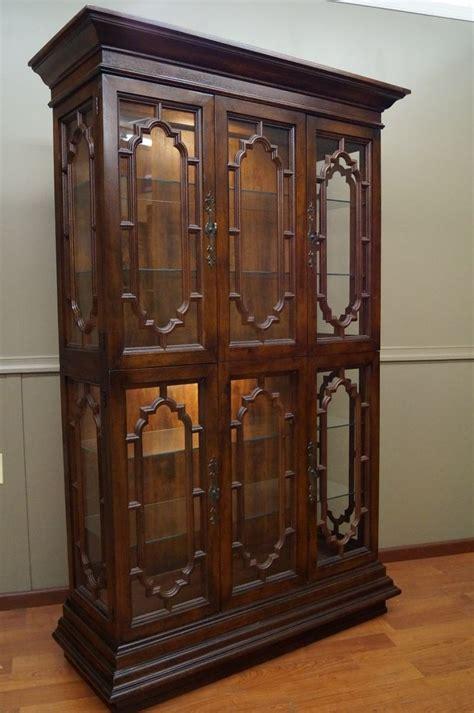 thomasville curio display cabinet mediterranean