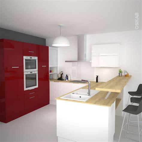 idee cuisine en u idée relooking cuisine cuisine et blanc ouverte