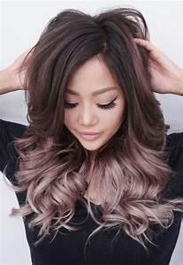 Tendance Couleur Cheveux : tendance couleur de cheveux rose gold balayage ombre on brunette hair hair pinterest ~ Farleysfitness.com Idées de Décoration