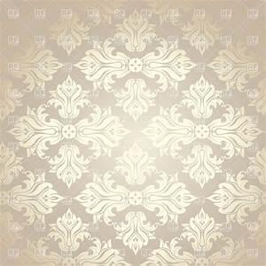 Seamless grey damask wallpaper Royalty Free Vector Clip ...