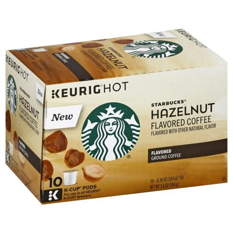 Enjoy the starbucks coffee you love without leaving your home or office. Starbucks Keurig Hot Coffee, Flavored, Ground, Hazelnut, K ...