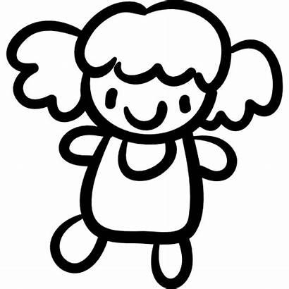 Doll Toy Hand Icon Drawn Icons Female