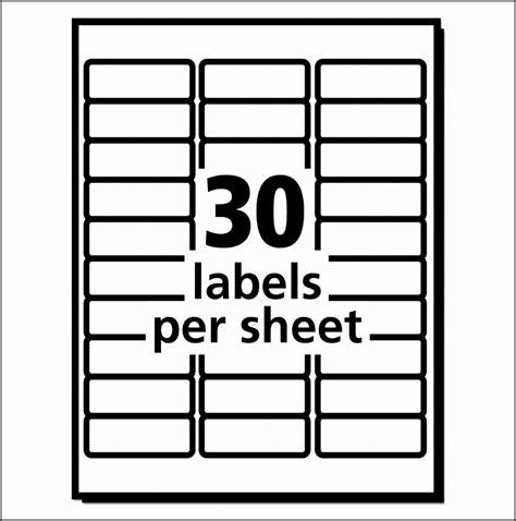 10 template for address labels 30 per sheet sletemplatess sletemplatess