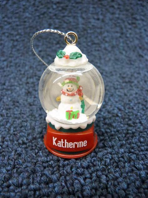 cute ganz personalized name snowman snow globe ornament k