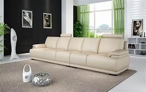 Canapé Droit 5 Places : canap droit cuir london canap droit en cuir 5 places ~ Premium-room.com Idées de Décoration