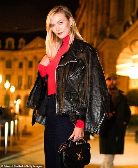 Karlie Kloss Rocks Black Leather Motorcycle Jacket