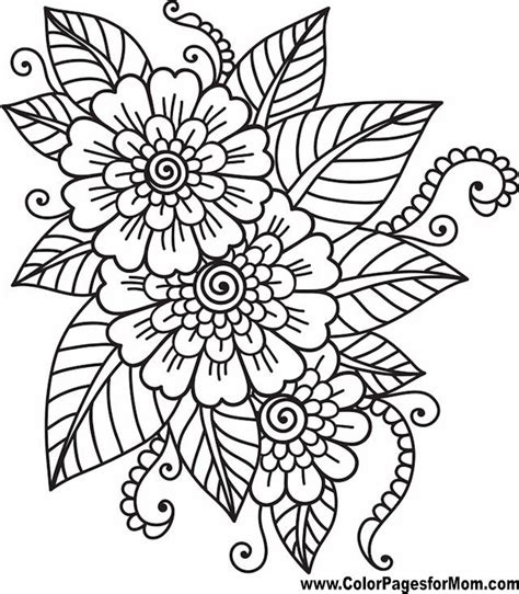 Flower Coloring Page 41 Mandala coloring pages Easy