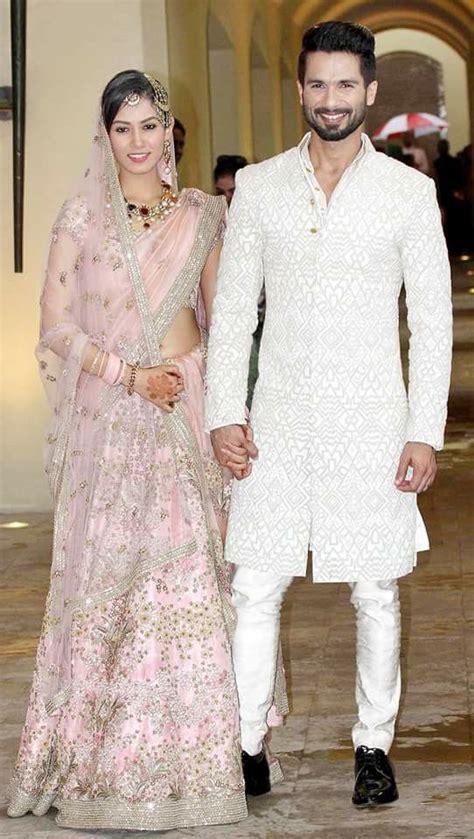 shahid kapoor mira rajput wedding dress beautiful baby