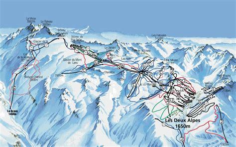 la grave la meije piste map trails marked ski runs sno