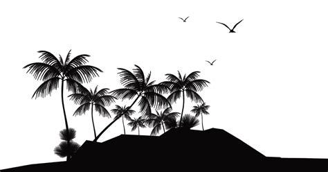 tropical islands resort silhouette island beach clip art