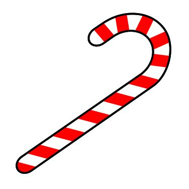 animated candy canes drawing a