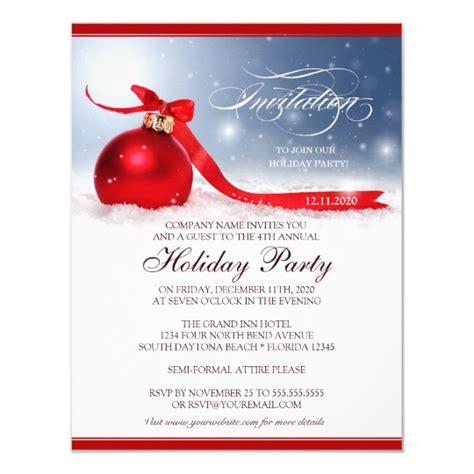 employee holiday luncheon invitation template corporate invitation template zazzle