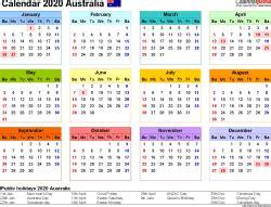 australia calendar   printable excel templates