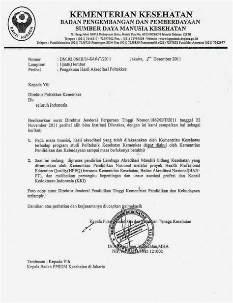 Contoh Surat Akreditasi Perguruan Tinggi Cpns by Contoh Surat Keterangan Akreditasi Dari Ban Pt Contohsurat