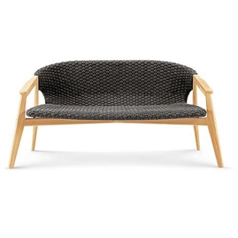 canap exterieur canapé extérieur deux places knit de ethimo teck