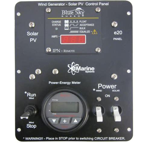 solar  wind control panel  volt  amp  marine