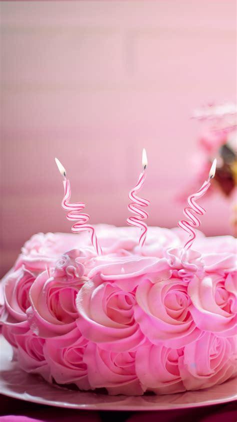 wallpaper birthday cake receipt pink  food