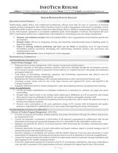 business systems analyst resume it resume sles infotechresume