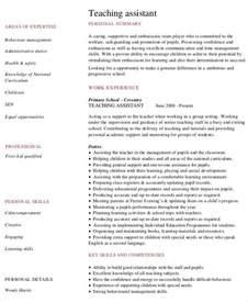 Preschool Teacher Assistant Resume Sample