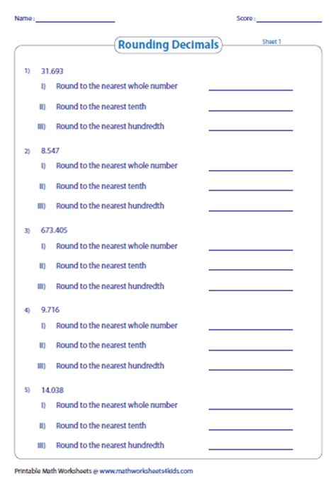 Number Line Worksheets » Rounding With Number Line Worksheets  Free Printable Worksheets For