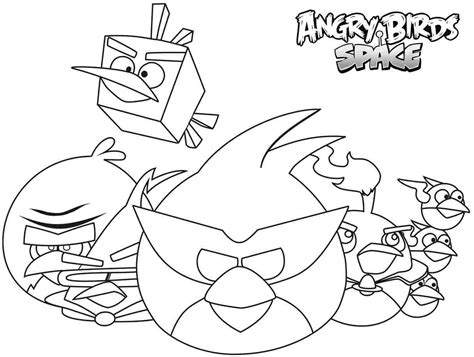 Angry Birds Kleurplaten Space by Angry Bird Space Coloring Pages Coloring Home