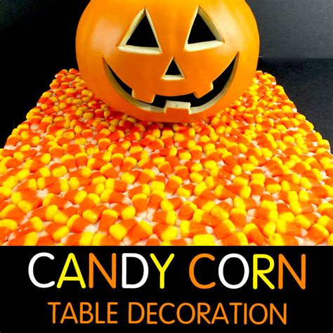 candy corn halloween table decoration  sisters