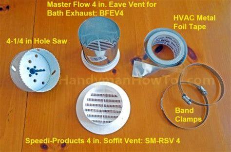 install bathroom exhaust fan  soffit bathroom