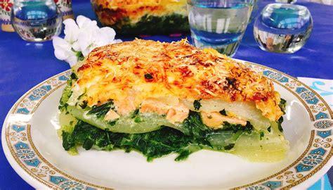 kohlrabi lasagne mit lachs und spinat schnelle low carb