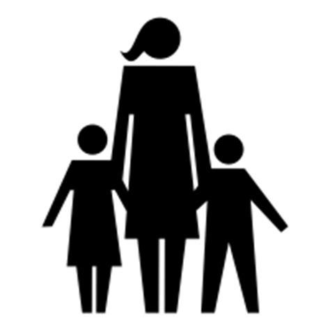 single parent family clipart black and white single parent icons noun project