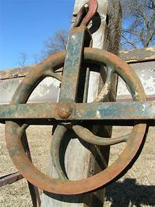 OLD Cast IRON Durbin Durco WATER WELL Pulley Wheel Mrkd ...