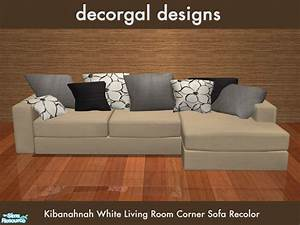 decorgal21539s kibanahnah39s corner sofa in cream With sectional sofa sims 4