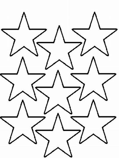 Coloring Stars Star Printable Pages Template Multi